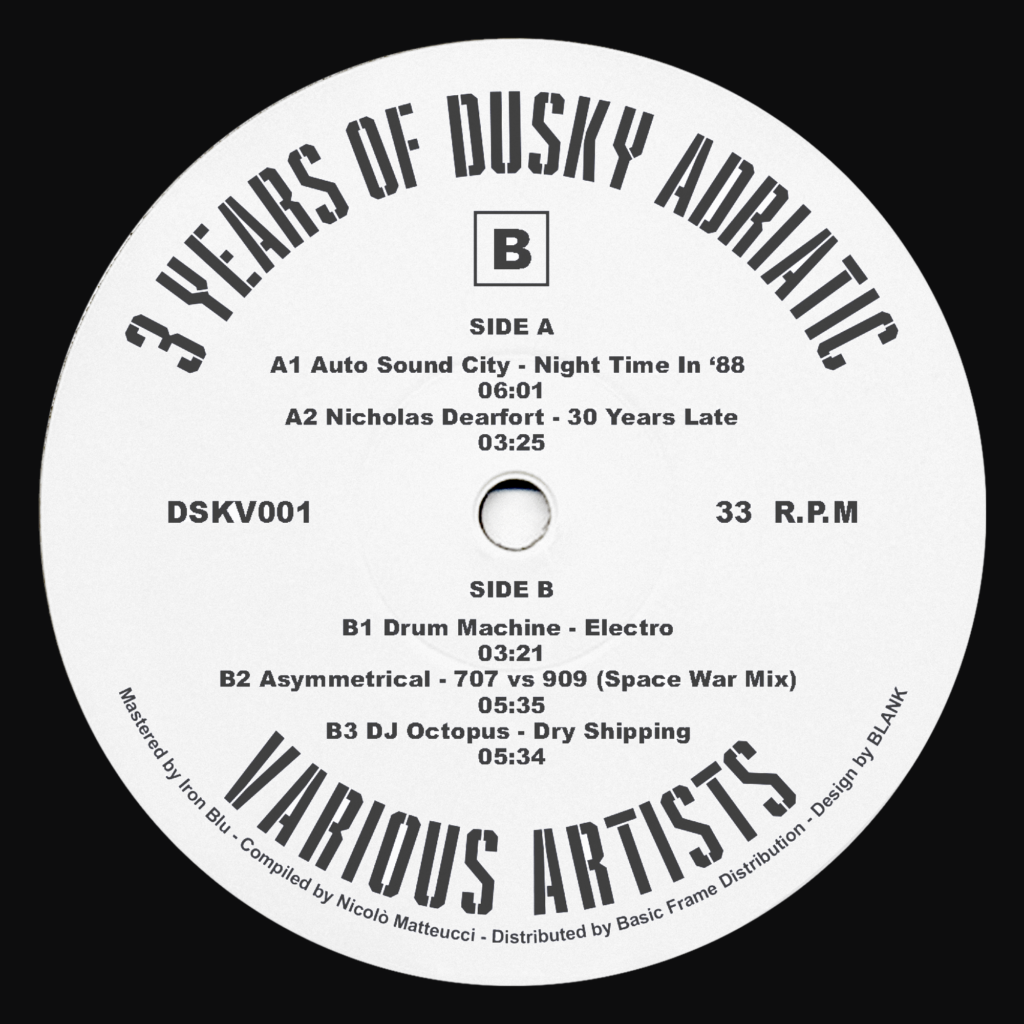 "DSKV001 12"" centre label"